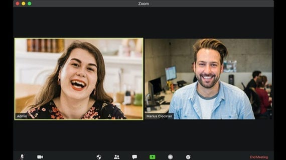 Use body language to project leadership on Zoom